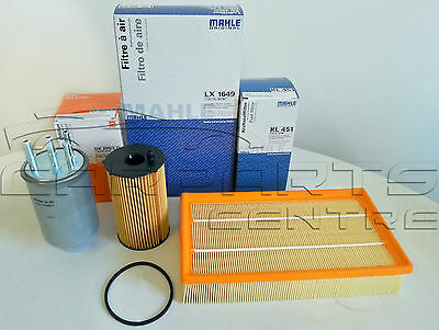 FOR JAGUAR S TYPE 2.7 TURBO DIESEL OIL FUEL AIR FILTER SERVICE KIT MAHLE GERMANY