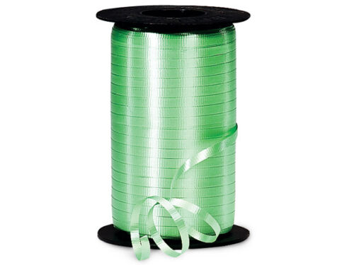 """*250YDS* 3//8/"""" MINT GREEN Crimped Poly Curling Ribbon"""
