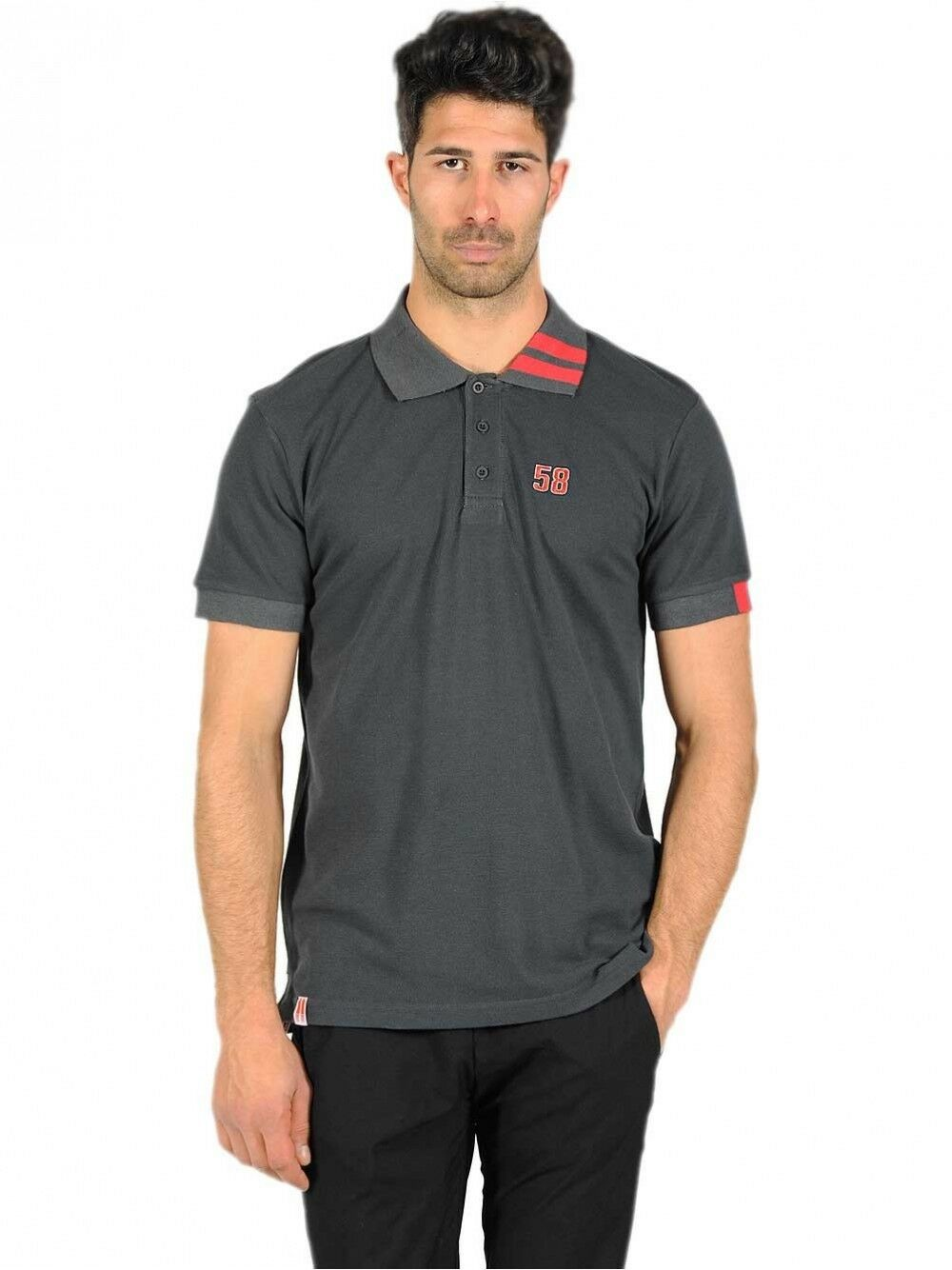 New Official SuperSic 58 Charcoal Polo.  16 15002