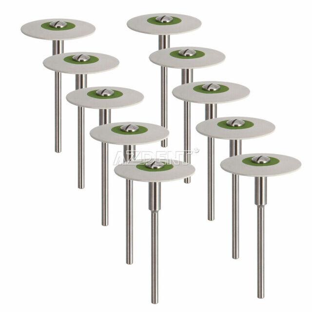 Dental Rubber Diamond Polisher Wheel Disc For Porcelain HP Bur Ultra Fine AZDENT