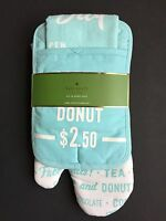 Kate Spade 3 Piece Order's Up Kitchen Set Of Towel Oven Mitt And Pot Holder