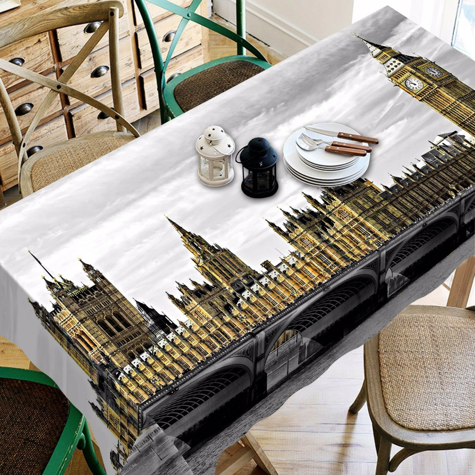 3D Build 709 Tablecloth Table Cover Cloth Birthday Party Event AJ WALLPAPER AU