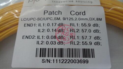 Fiber Jumpers 8M LC//UPC-SC//UPC,SM,9//125,2.0MM,DX