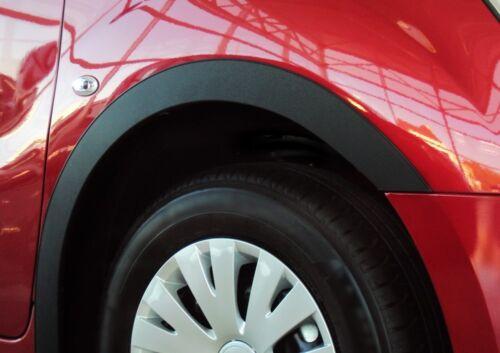 VW LUPO Anno 1998-2005 RUOTA BARRE ornamentali Set 4 pezzi anteriore posteriore Nero Opaco