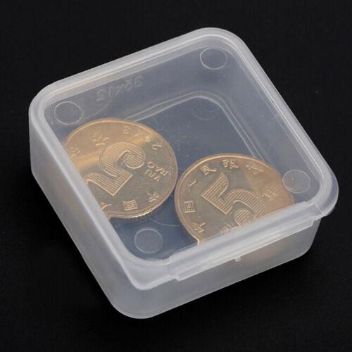 5 Stück Kleine Kunststoff Aufbewahrungsbox Clear Square Mehrzweck Display BoxZJH