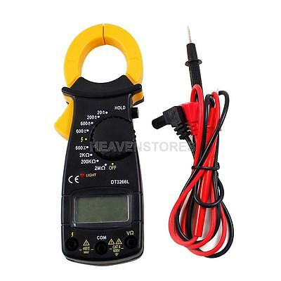 Portable LCD DIGITAL Clamp Multimeter AC DC Voltage Electronic Tester Meter New