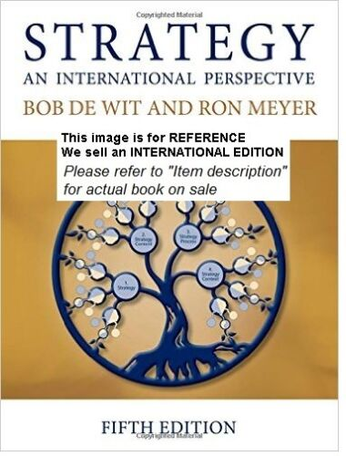 1 of 1 - Strategy: An International Perspective by Bob De Wit, Ron(Int' Ed Paperback)5ED
