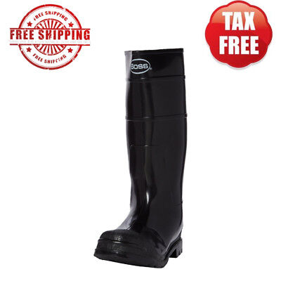 a506371b4d53d PVC Rain Rubber Boots Black Size 10 Cleated Outsole Work Outdoor Activities  Mens 72874012304 | eBay