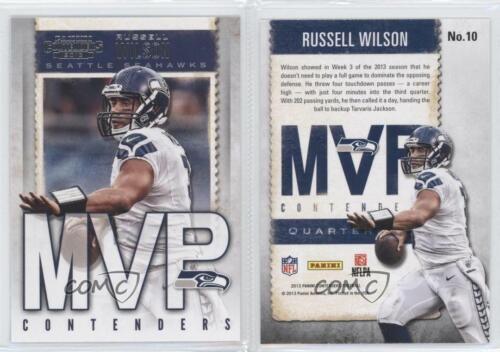 2013 Panini Contenders Jugador más Valioso #10 Russell Wilson Seattle Seahawks Fútbol Tarjeta