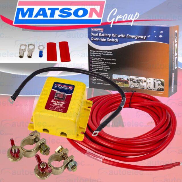 MATSON DUAL BATTERY SYSTEM KIT 140AMP 12V AUTOMATIC HEAVY DUTY 4WD 4X4 CARAVAN
