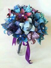 Paper Flower Origami Wedding Bouquet Vintage Buttons Sheet Music Alternative