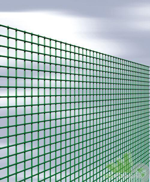 ROTOLO 25 M RETE QUADRAPLAST PLASTIFICATA verde RECINZIONE MAGLIA 12X12 H.100