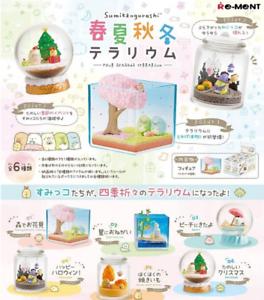 Sumikko Gurashi Four seasons Terrarium 6 type set  Japan Re-Ment anime F//S