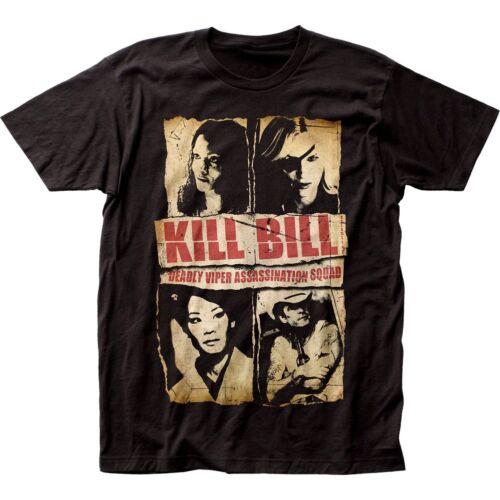 KILL BILL T-shirt Tarantino ASSASSINATION SQUAD Tee Adult Men Black New
