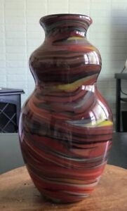 Fenton-glass-Vase-Dave-Fetty-034-Crayons-034-2006-Connoisseur-Collection-265-750