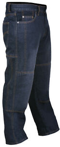 Motorcycle-Protective-Armoured-Lining-Denim-Black-Jeans-UK-SIZE-34-034
