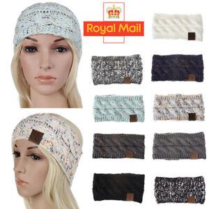 Women Ladies Knitted Knot Headband Head Wrap Ear Hair Band Winter Crochet Turban