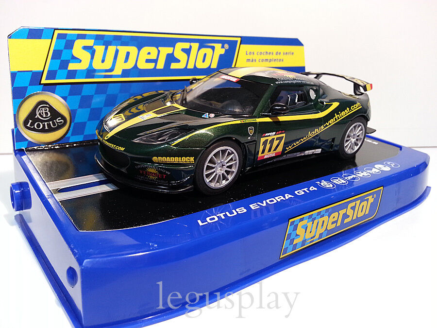 Slot SCX Scalextric súperslot H3506 Lotus Evora GT4 Nº117 Thierry Verhiest