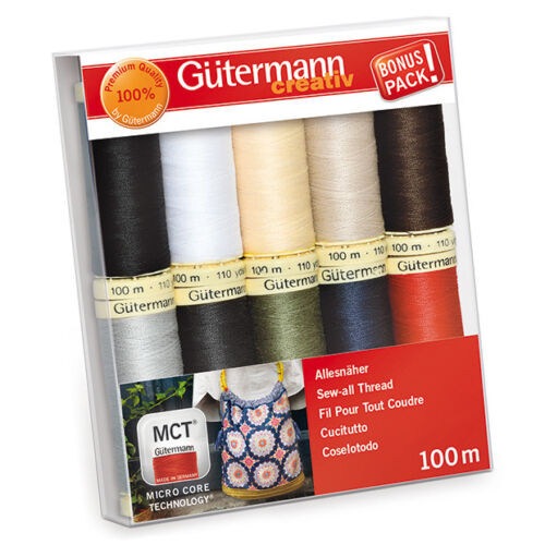 GUTERMANN SEW-ALL THREAD SET 734006 CLASSIC COLOURS 10 X 100M REELS
