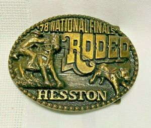 Vintage 1978 Hesston National Finals Rodeo Belt Buckle Limited Edition Nice
