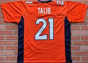 quality design bdcf7 28c11 Details about Aqib Talib autographed signed jersey NFL Denver Broncos PSA  COA Super Bowl Rams