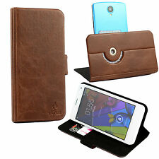 Schutzhülle für Alcatel One Touch Pop Star 5070D Tasche Hülle Case Cover Braun