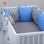 PILLOW-BUMPER-made-form-6-cushions-for-cot-bed-GREY-PINK-BLUE-NAVY-STARS thumbnail 10