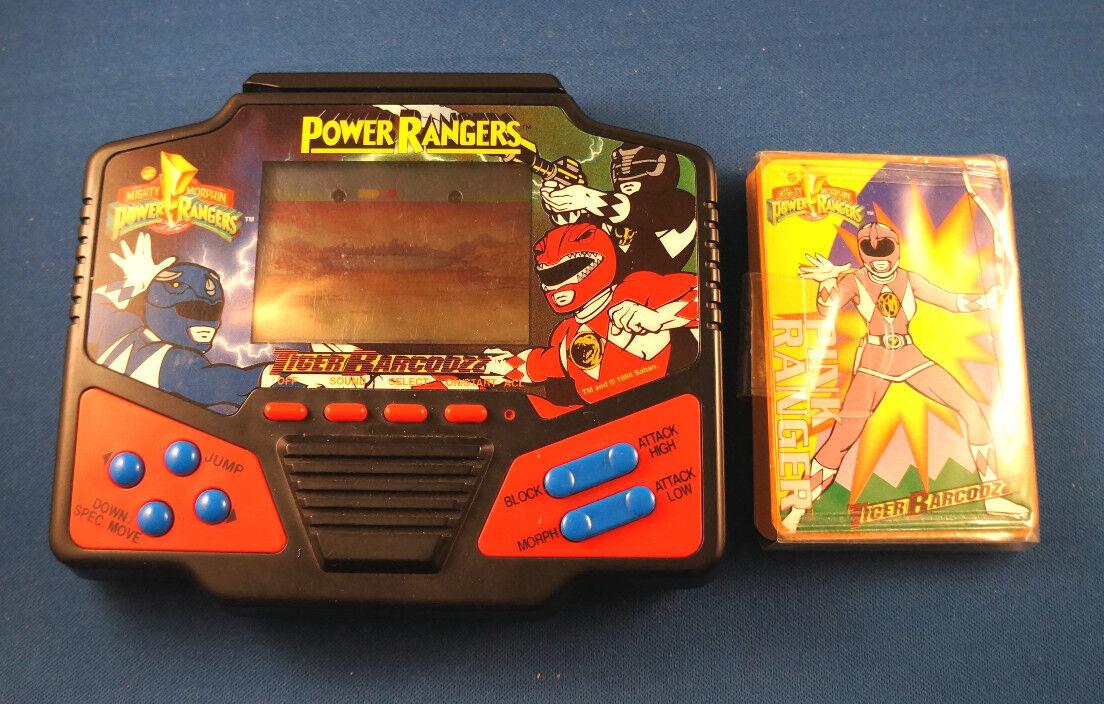POWER RANGERS ELECTRONIC HANDHELD GAME TIGER BARCODZZ VIDEO GAME ARCADE CARD VTG