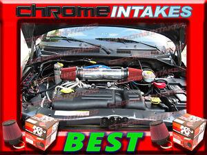 DUAL 2000 2001 2002 2003 DODGE DAKOTA//DURANGO//RAM 4.7L V8 AIR INTAKE KIT Blue