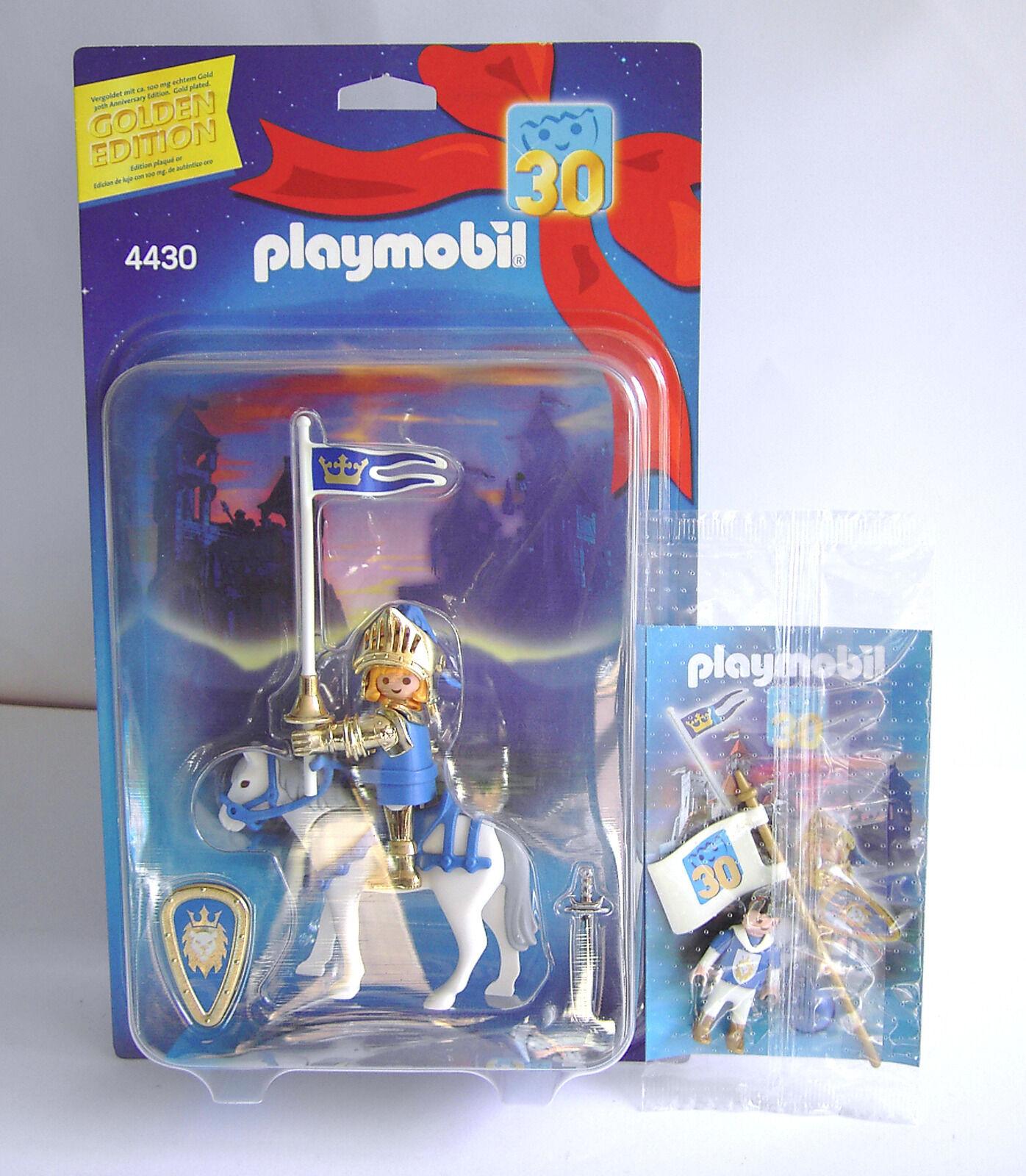 Playmobil 4430 Goldener Ritter 30 Edition + Knappe Prinz echt Gold RAR NEU OVP