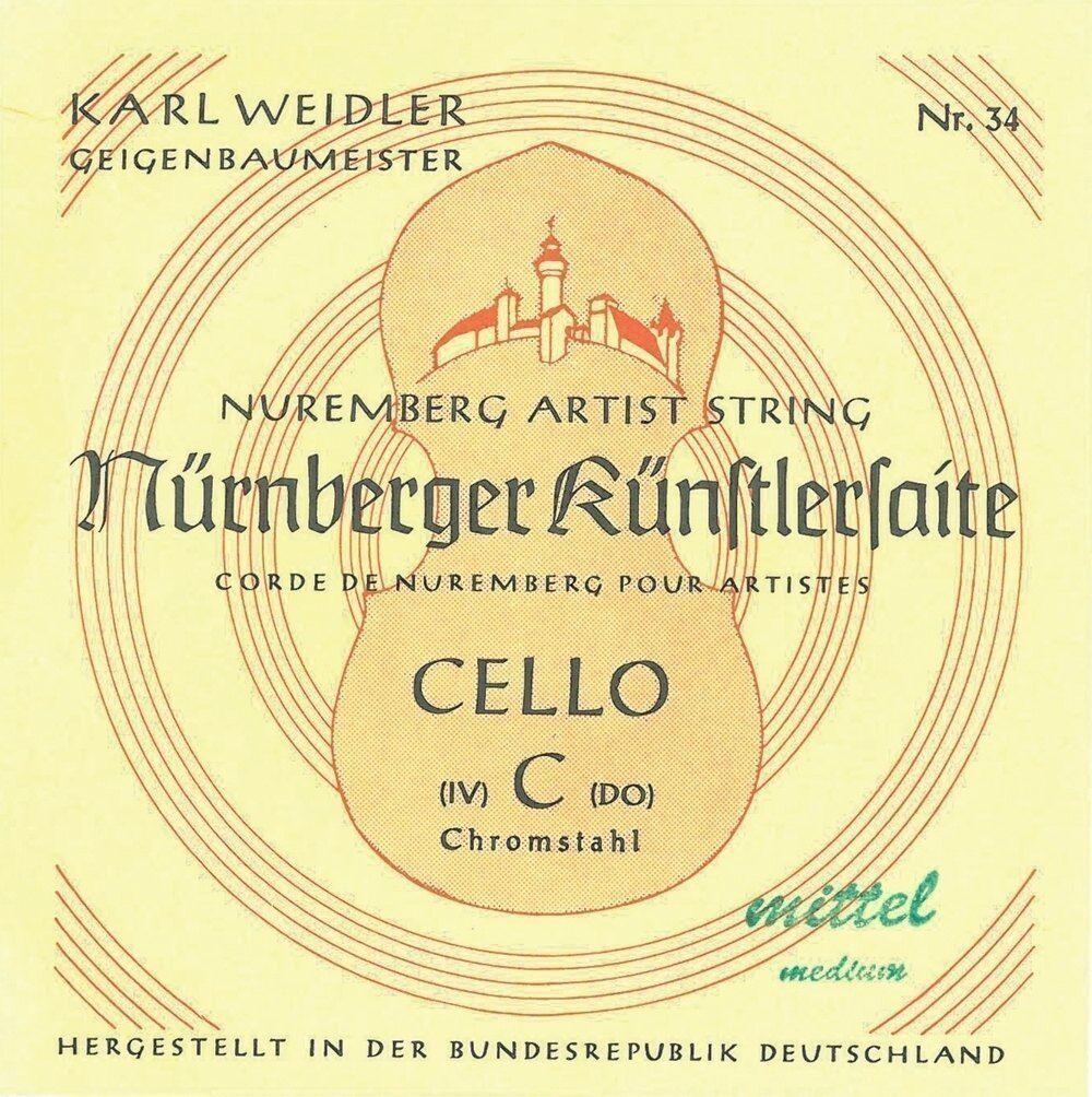Cello Saiten Nürnberger Künstler  Satz komplett 3 4 Größe  Nr. 35