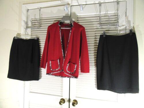Women Sweater Liz Red Sz Of Gonne Claiborne s lot EPxzqXrxnw