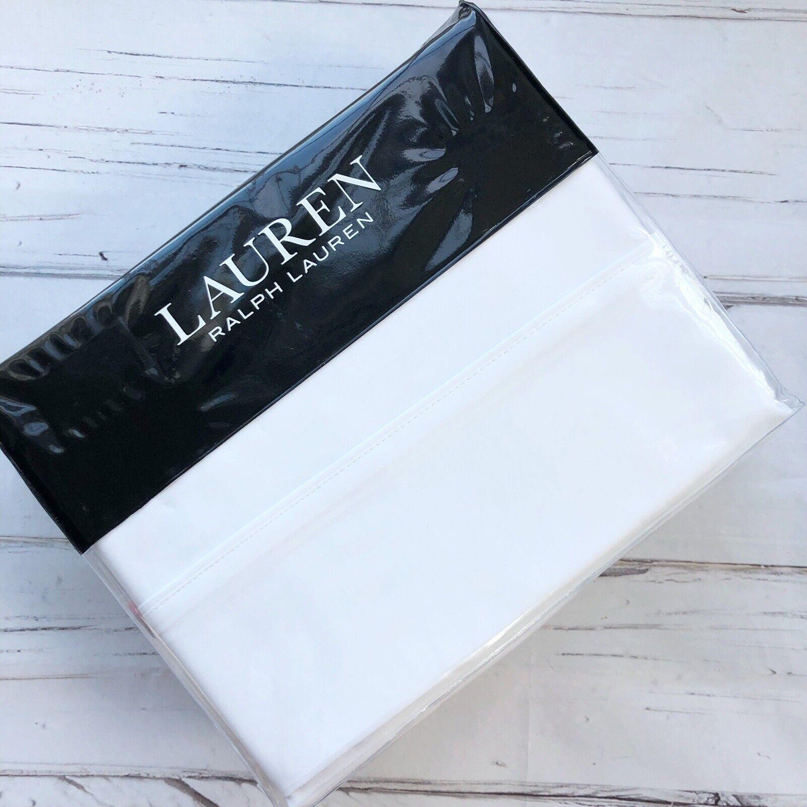 Ralph Lauren Dunham King Sheet Set solid Weiß Cotton Sateen extra deep New