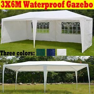3x6m Gazebo Waterproof Outdoor Garden Gazebos Marquee ...