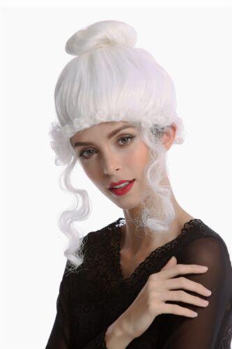 Perruque Dame Carnaval historiquement Biedermeier romantisme renaissance baroque blanc