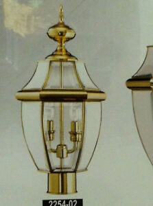 Details About Polished Brass Outdoor Lamppost Head Lamp Post Lighting Street Light Pole Gold