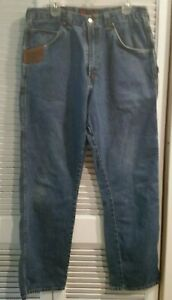 Riggs Workwear Blue Jeans Wrangler Pantalones De Trabajo Carpintero Durashield Para Hombre 36x34 Ebay