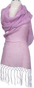Schal-Leinen-Foulard-Flieder-Perlen-Sommer-scarf-linen-lavender-summer