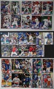 2018-Topps-Series-1-2-and-Update-Texas-Rangers-Team-Set-of-31-Baseball-Cards