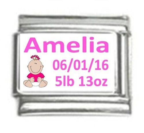 9mm Classic Italian Charm Custom Made Baby Girl Fits Classic Size Bracelet