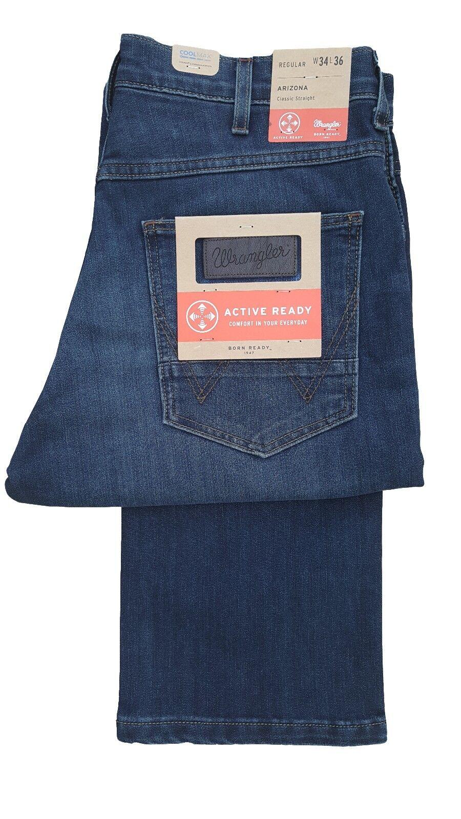 f01dd886 Mens Tall 36 Leg X-Long Regular Fit Fashion Jean - bluee Faded Arizona  Wrangler nfhxiy5126-Jeans