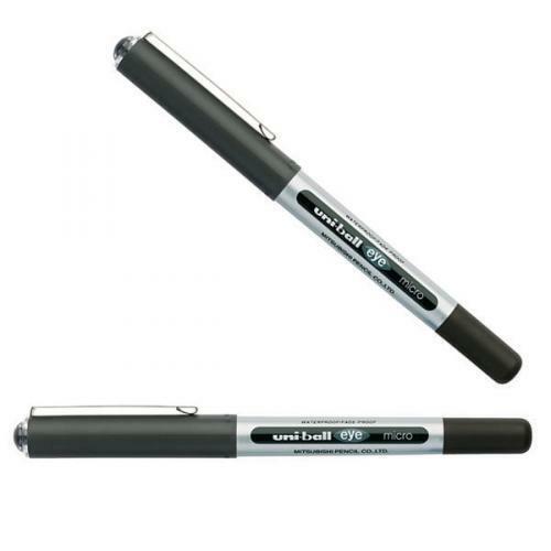 0.5 mm 4 X UniBall Eye Micro UB-150 RollerBall Pen Black Ink MITSUBUSHI JAPAN