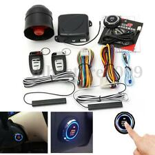 Smart Passive Keyless Entry Remote Control Start Car Alarm System Push Button