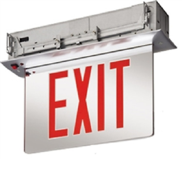 Lithonia EDGR 1 R EL SD M4 RED LETTERS RECESSED EDGELIT LED EXIT SIGN DP30