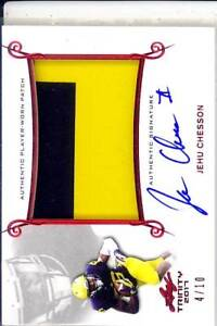 best website a77ef dacfc Details about jehu chesson rookie draft auto jersey patch michigan  wolverines college 2C #/10