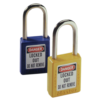 """Xenoy Ideal 44-918 Padlock 1-1/2"""" Shackle Yellow W/keys 2019 Official"""