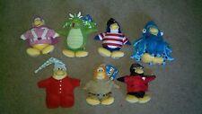 "Lot of 7 Club Penguin 8"" Stuffed Dolls"
