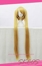 NARUTO Uzumaki cosplay wig costume gold colour Female 100CM