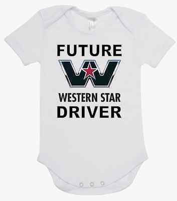 printed with FUTURE WESTERN STAR DRIVER  romper BABY ONE PIECE ROMPER