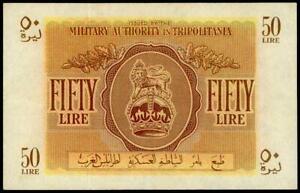 BRITISH MILITARY AUTHORITY IN TRIPOLITANIA 50 LIRE 1943- ITALY  LIBYA  SUP RR